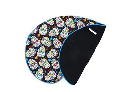 Nursing Pillow Cover Sugar Skulls and Flowers for Baby Boy or Girl