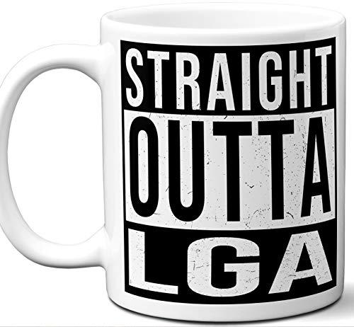 (Gift For Pilot Flight Attendant Air Traffic Controller Mug. New York, La Guardia Airport LGA Code.