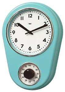 Bai Retro Kitchen Timer Wall Clock Turquoise