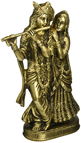 Brass Sculpture Lord Krishna and Radha