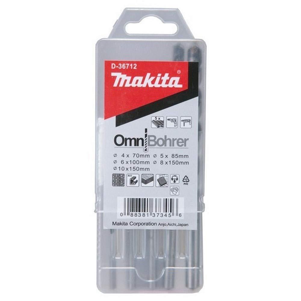 Makita D-30477 Estuche de brocas Multimaterial 5 unds Omnibohrer