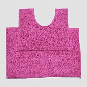 hot pink kitchen accessories zeal mat | Amazon.com: Large Hot Pink 2 Piece High Pile Chenille Bath ...