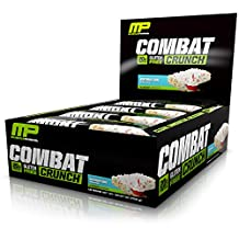 Musclepharm Combat Crunch Bars, 12-Count, Net Weight 26.67 oz, Birthday Cake