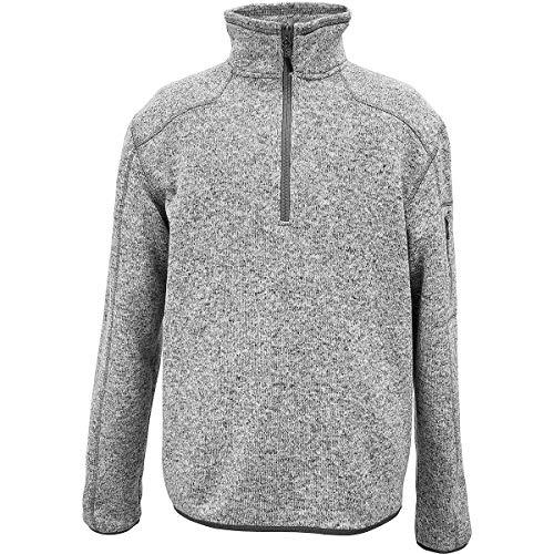 Casual Jacket Sierra - White Sierra Men's Cloud Rest Sweater Fleece Quarter Zip, Large, Heather Gray