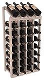 Cheap Wine Racks America Ponderosa Pine 4 Column 8 Row Display Top Kit. 13 Stains to Choose From!