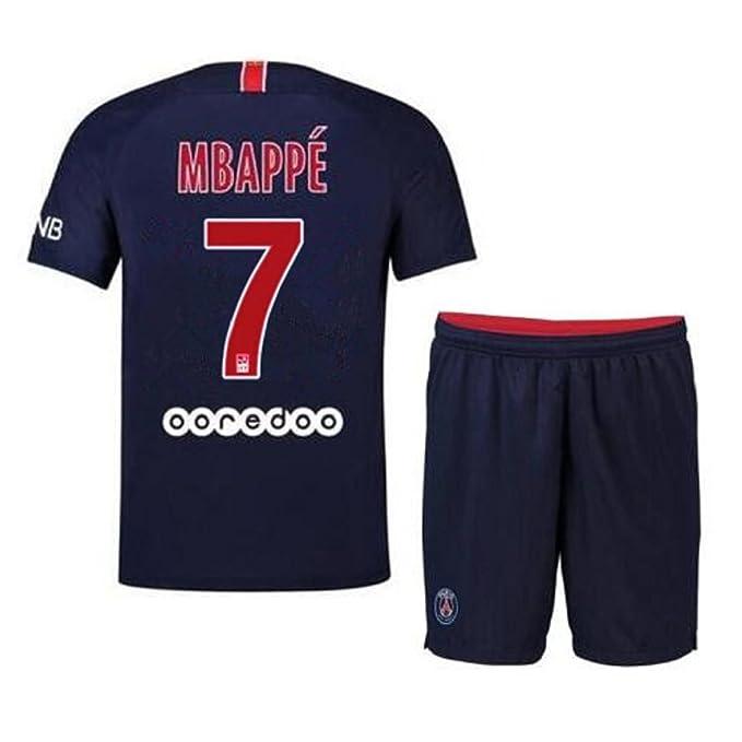 d26294c7 Bamerand Youth Mbappé Jerseys Saint-Germain # 7 Kid's(Boy's) Soccer Jersey  2018