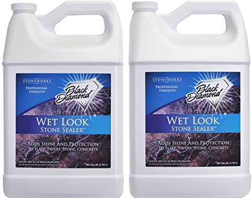 Black Diamond Stoneworks Wet Look Natural Stone Sealer Provides Durable Gloss and Protection to: Slate, Concrete, Brick, Pavers, Sandstone, Driveways, Garage Floors. Interior or Exterior. 2-Gallon by Black Diamond Stoneworks (Image #10)