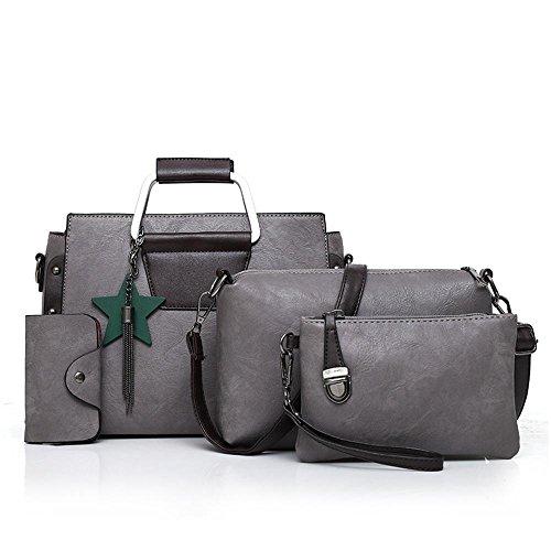 Aoligei La couleur Pure sac femme flow Suzi sac quatre morceaux d'épaule portable européenne et américaine C