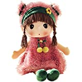 HWD Kawaii 17 inch Stuffed Plush Girl Toy Doll . Good Gift for Kids Baby Lover.(Pink)