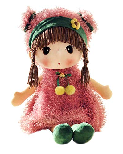 HWD Kawaii 17 inch Stuffed Plush Girl Toy Doll . Good Gift for Kids Baby Lover.(Pink) ()