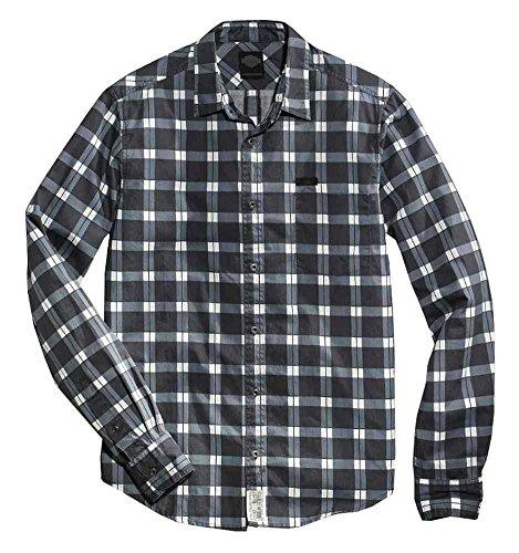 - Harley-Davidson Men's Printed Long Sleeve Woven Plaid Shirt, 96456-16VM (M) Black