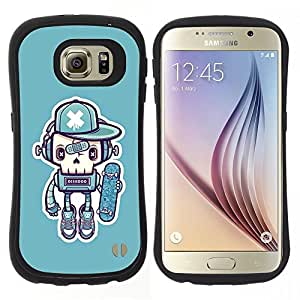 "Pulsar iFace Series Tpu silicona Carcasa Funda Case para Samsung Galaxy S6 , Robot Skate Graffiti Street Art Cap"""