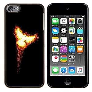 For Apple iPod Touch 6 6th Touch6 Case , Flaming Phoenix 2- Diseño Patrón Teléfono Caso Cubierta Case Bumper Duro Protección Case Cover Funda