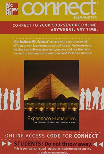 Connect Humanities 1-Term Access Card for Experience Humanities