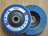 Premium FLAP DISCS 6'' x 7/8'' Zirconia 60 grit Grinding Wheel grinder tool - 5pcs Pack