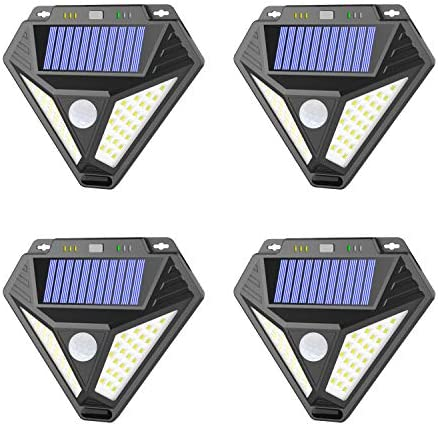Solar Lights Outdoor, Motion Sensor Light with 3 Optional Modes, 270 Wide Angle, IP65 Waterproof Wireless Wall Lights, Solar Powered Security Lights for Front Door, Yard, Garage