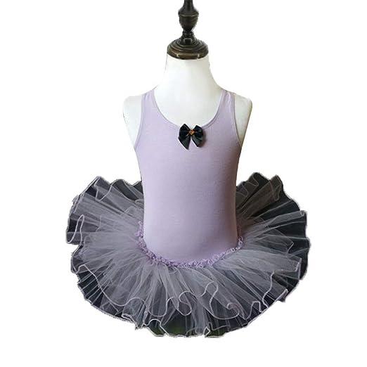 Wuxingqing Tutú de Ballet Vestido de Ballet para niñas Falda ...
