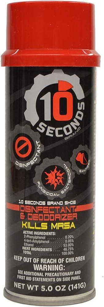 10 Seconds Shoe Disinfectant & Deodorizer 5 Ounces, 1 Bottle 51QDX0ato4L