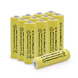BAOBIAN AA 600mAh 1.2v NICD Rechargeable Battery for Outdoor Solar Lights,Garden Lights, Remotes, Mice(Yellow 12 PCS
