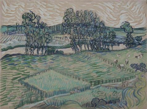 Oil Painting 'Vincent Van Gogh - The Oise At Auvers, 1890', 10 x 13 inch / 25 x 34 cm , on High Definition HD canvas prints is for Gifts And Gym, Kitchen And Living Room Decoration, fast (Neo Skin Jumpsuit)