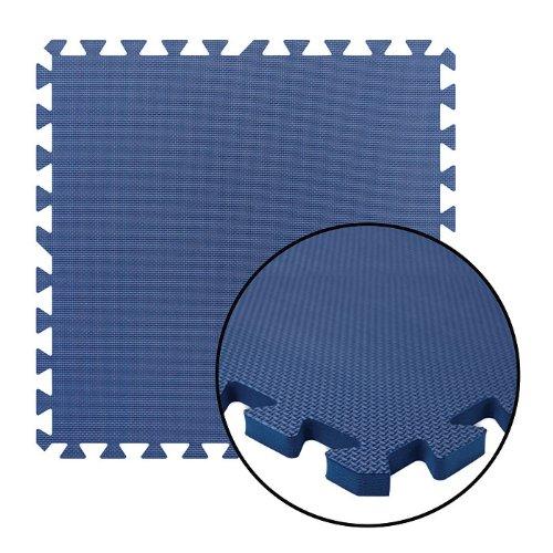 Alessco EVA Foam Rubber Interlocking Premium Soft Floors 10' x 20' Set Black ()