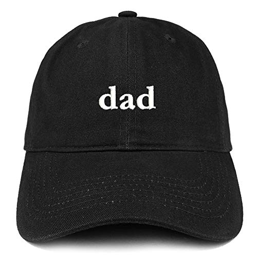 c8b2adb23c1 Trendy Apparel Shop Dad Embroidered Soft Low Profile Cotton Cap Dad Hat -  Black