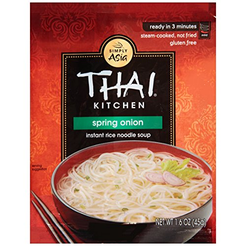 Spring Onion Noodle - Thai Kitchen Gluten Free Spring Onion Instant Rice Noodle Soup, 1.6 oz (Case of 72)