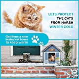 PETYELLA Cat Houses for Outdoor Cats - Heated Cat