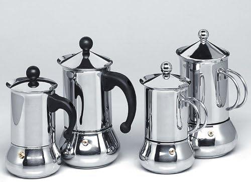 Frabosk caffisimo eteria Espresso Lola Cafetera de 3 tazas acero ...