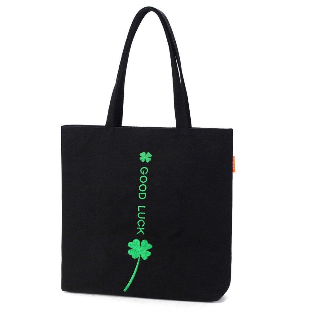 FUTISKY Women's Canvas Shoulder Bag Handbag Tote Travel Bag