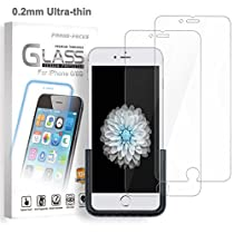 iPhone 6 / iPhone 6S Glass Screen Protector, Premium Tempered Glass Screen Protector for Apple iPhone 6S, iPhone 6, 0.2mm Ultra-thin, Application Fixture, 10H Hardness HD Clear, 2 PACK by Proud Focus