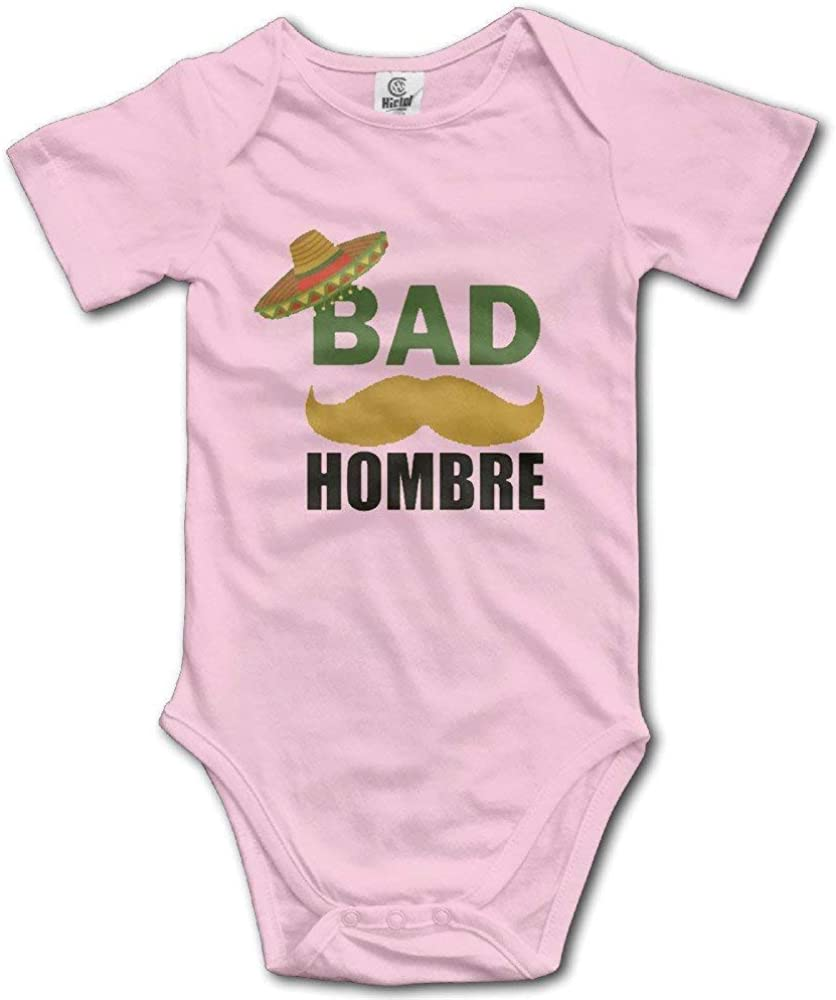 PEKBUS Bad Hombre Funny Political Trump Mexico Babys Climbing Clothes Baby Bodysuit 18M