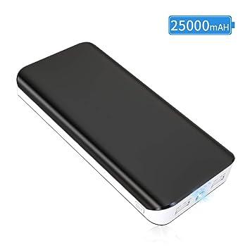 Power Bank 25000mAh, Bateria Externa para Movil,Cargador Portátil Móvil de Ultra Alta Capacidad con 2 Salidas USB, 1 Linterna y 4 Indicadores LED para ...