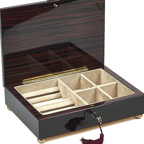 Bello Collezioni - Calabria lujo caoba Hombres Joyería de las mujeres/caja. Fabricado en Italia: Amazon.es: Joyería