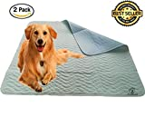 TruPetCA Washable Dog Pee Pads (2pack) 36x32 Green Brown,Premium Pee Pads Dogs, Durable Waterproof Whelping Pads, Reusable Dog Training Pads Quality Travel Pet Pee Pads!