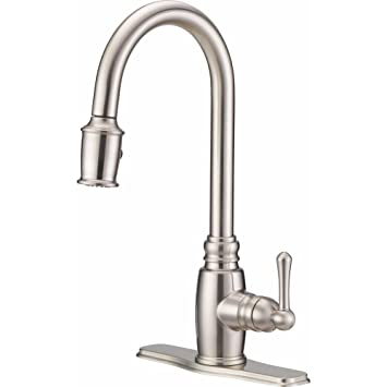 Danze D455557ss Opulence Single Handle Pull Down Kitchen Faucet With
