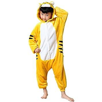 Tongchou Kids Onesie Animal Pyjamas Homewear Sleepsuit Halloween Cosplay  Costume Tiger Size 100  Amazon.co.uk  Baby 90582996f