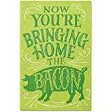 American Greetings Funny Bacon New Job Congratulations Card with Flocking