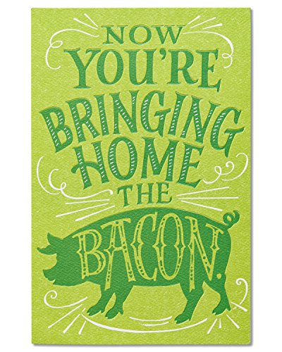 New job greeting cards the best amazon price in savemoney american greetings funny bacon new job congratulations card with flocking m4hsunfo