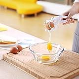 Zanmini Casse Oeuf Séparateur Blanc et Jaune Manuelle - 2 en 1 Diviseur Cuisine Efficacité Ustensile de Cuisine - Préparation des repas