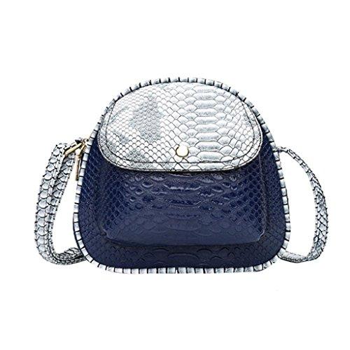 collectsound - Bolso al hombro para mujer gris claro Azul