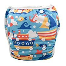 Babygoal Baby Swim diapers, Babygoal Reuseable Washable and Adjustable for Swimming, Outdoor Activities and Daily Use, Fit Babies 0-2 Years SWD36-CA