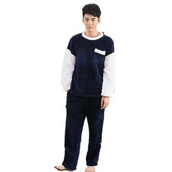 DMMSS Traje otoño e invierno de terciopelo coral pijama de franela ropa de noche de los