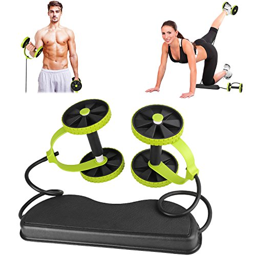 DAS Leben New Sport Core Double AB Power ab roller ab wheel fitness Abdominal exercises Equipment coaster Pull roda Waist Slimming Trainer