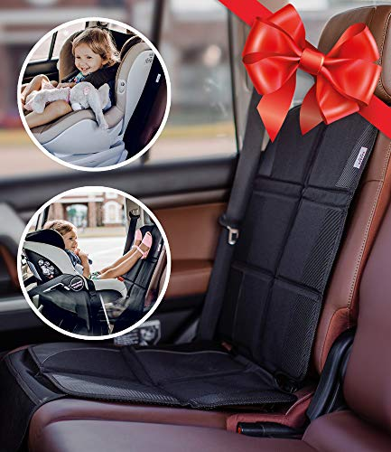Seat Resistant (Car Seat Protector - Premium Carseat Auto Cover - For Baby & Infant Safety Seat as Kick Mat - Covers your Expensive Leather Seats with Thick Pad - Waterproof and Dirt Resistant - For SUV, Sedan, Truck)