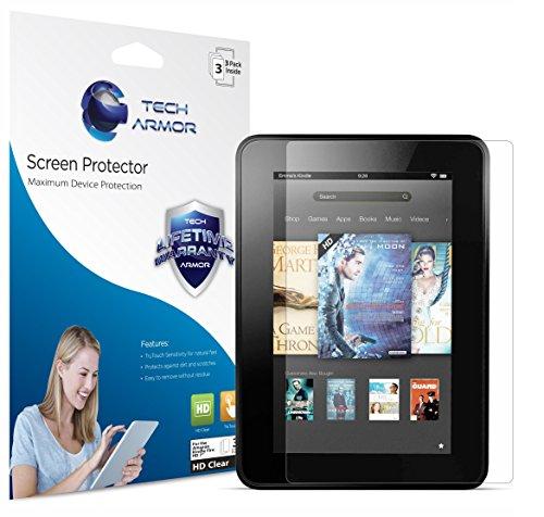 Kindle Fire HD Screen Protector, Tech Armor High Definition HD-Clear Amazon Kindle Fire HD 7