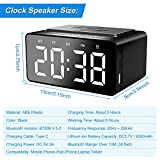WIOR Alarm Clock Bluetooth Speaker, Wireless