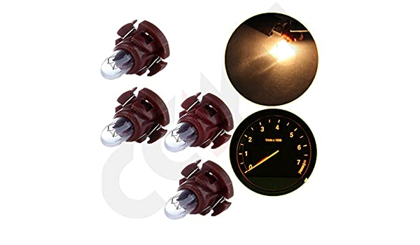 SCITOO 20 Pcs B8.4D Neo Wedge Halogen Light Bulbs Instrument Gauge Cluster Light Bulbs for A//C Climate Control Light