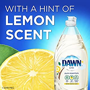Dawn Pure Essentials Dishwashing Liquid Dish Soap Lemon Essence 16.2 oz