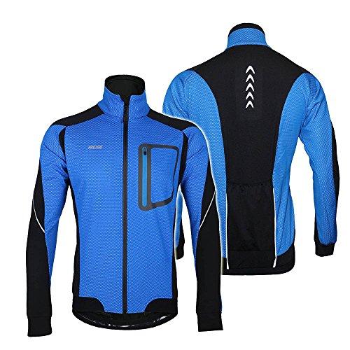 Bike Antivento Jersey Lixada Ciclismo A Giacca Calda Maniche Lunghe Per Mountain Blau In xtxq6zwFT